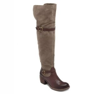 NWT Lucky Brand Roller Boots Suede Leather Heeled